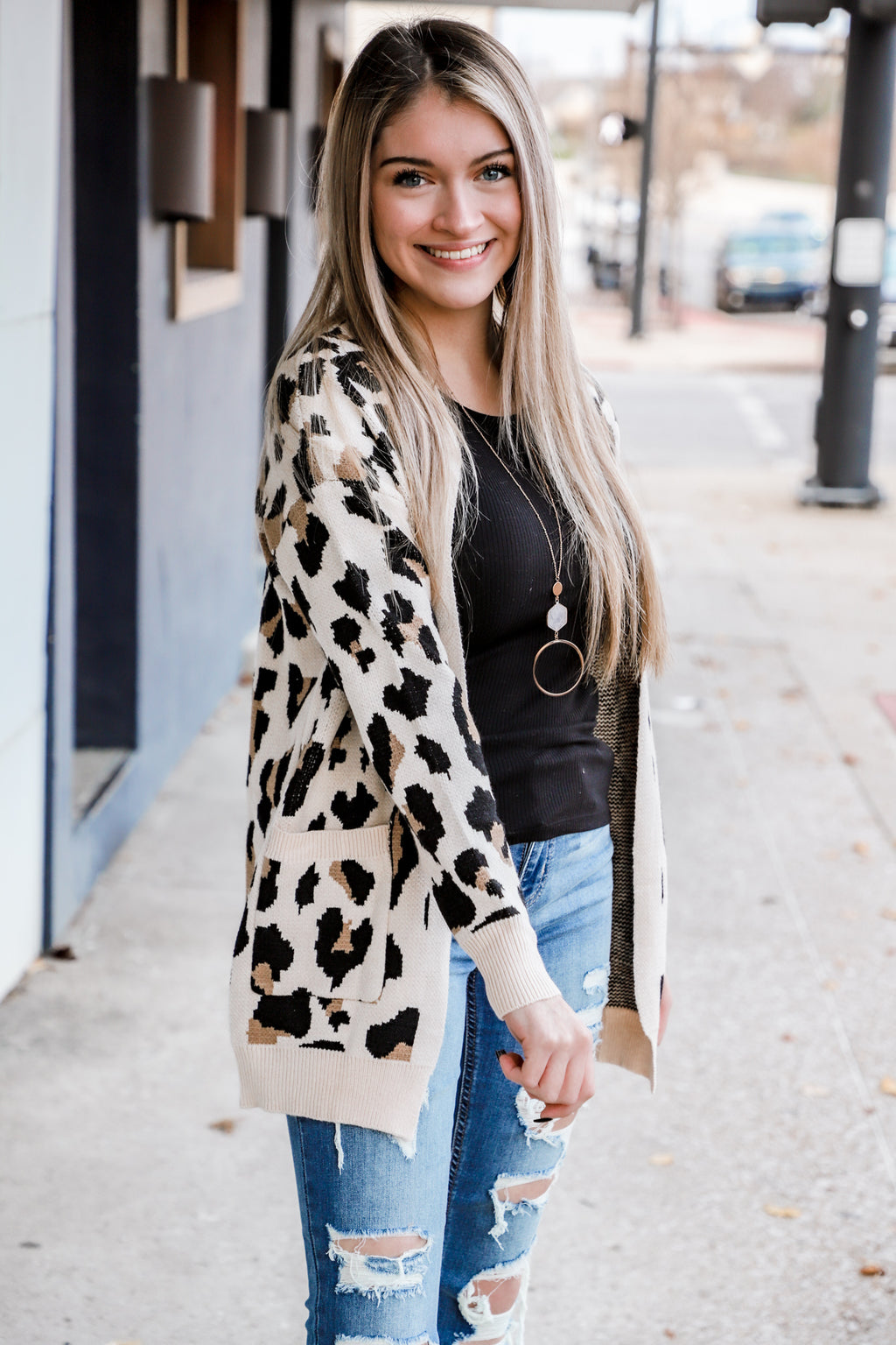 Beautiful Exchange Leopard Cardigan