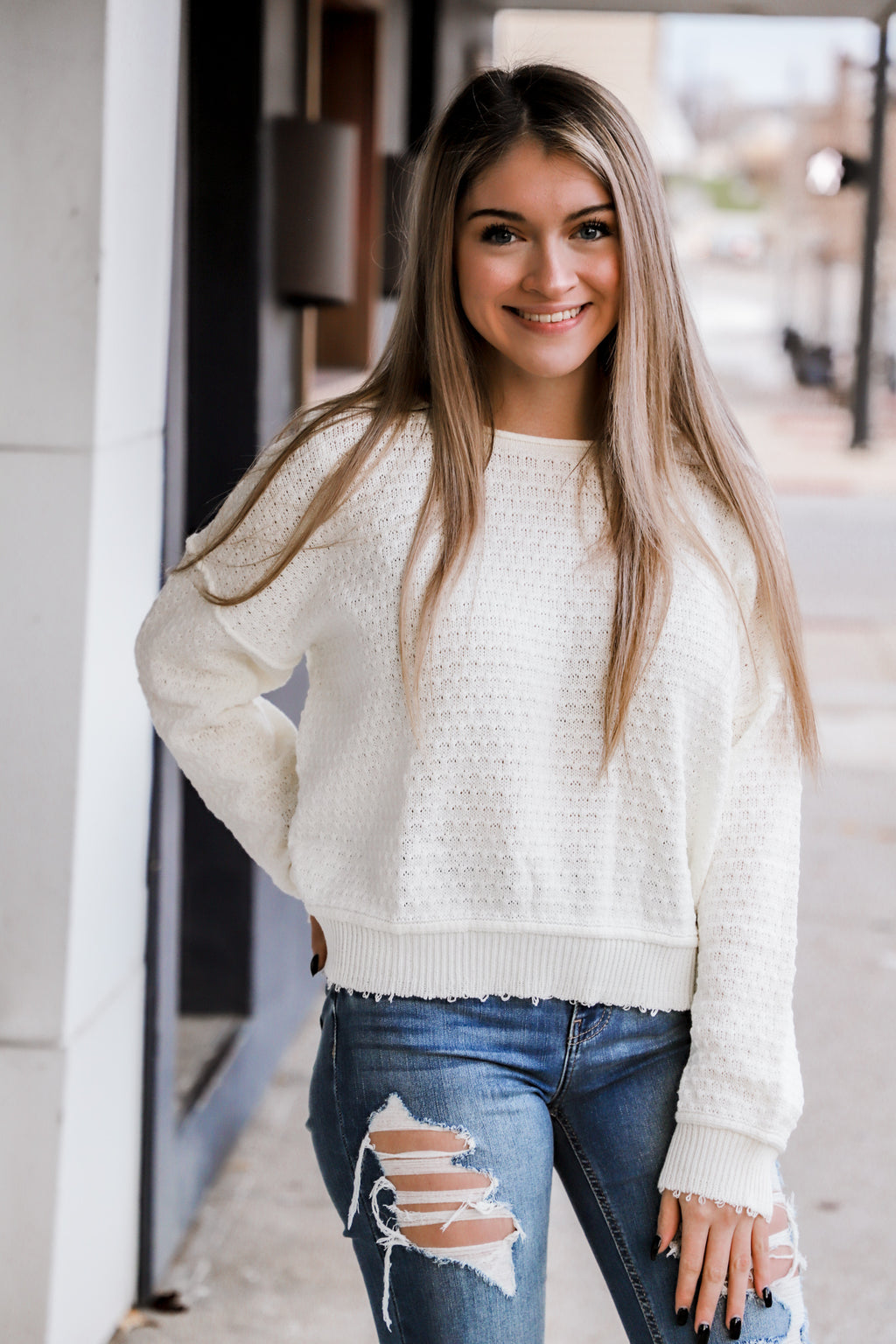 Reckless Love Cream Sweater