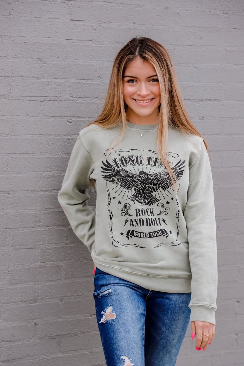 Long Live Rock and Roll Graphic Sweatshirt