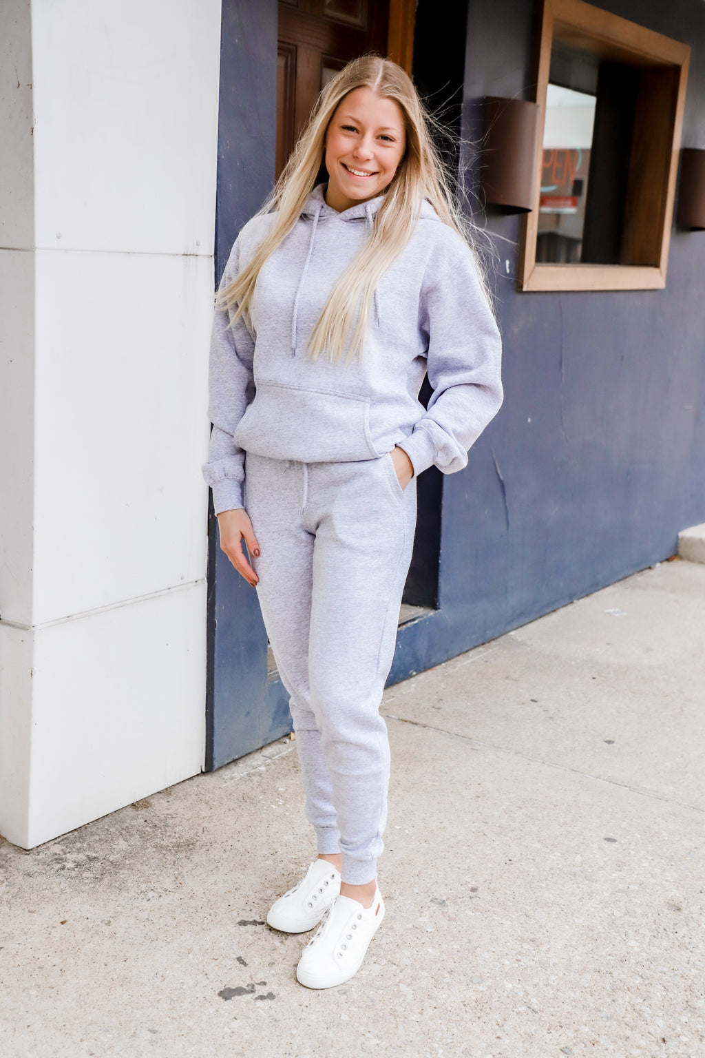 Never Lost Heather Gray Hoodie