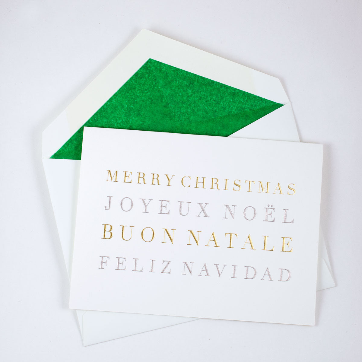 Merry Christmas Languages Notecard