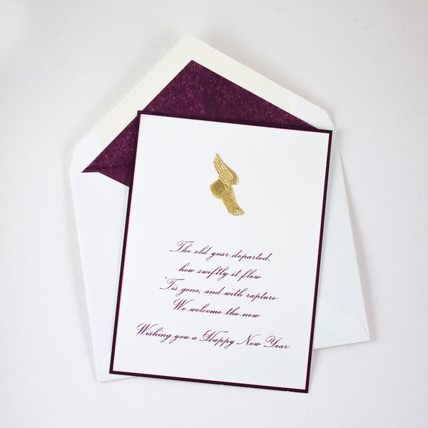 Winged Foot New Year Notecard
