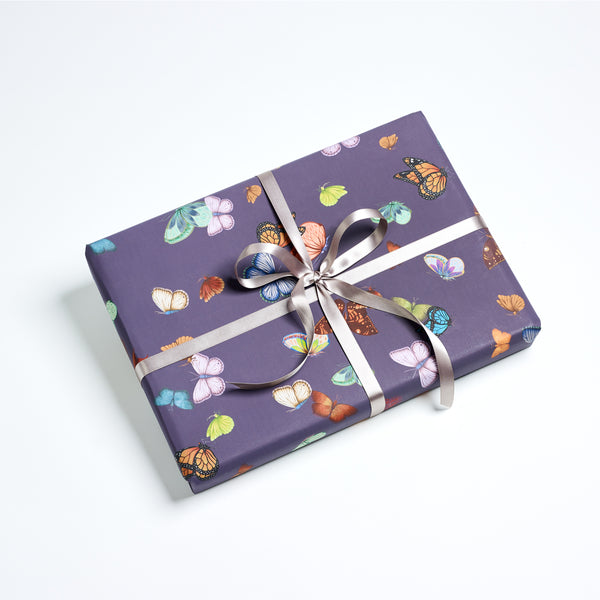 Butterfly Wrapping Sheets – Aubergine