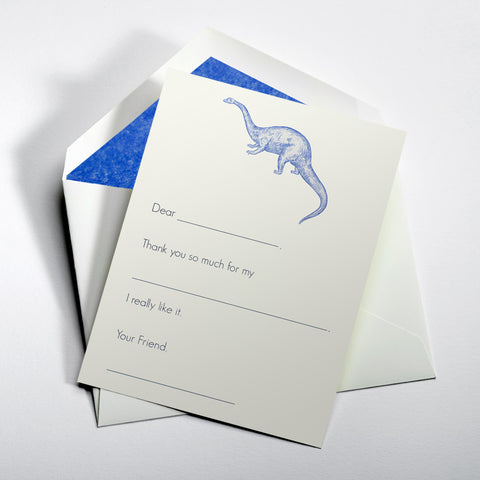 Dinosaur Fill-In Thank You Notes