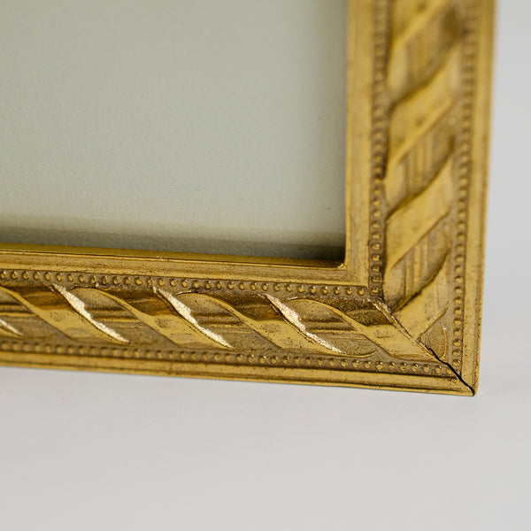 "Gold Roped Picture Frame 5"" x 7"""