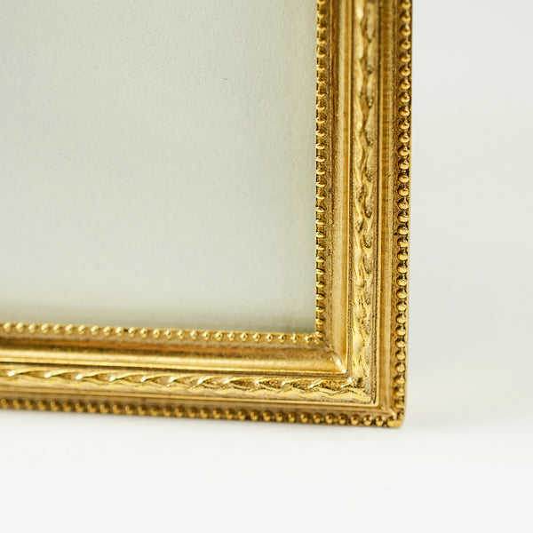 "Gold Thin Crested Picture Frame 5"" x 7"""