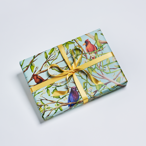 Bird Scene Wrapping Sheets – Green