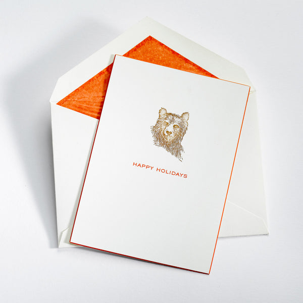 Bear Happy Holidays Card