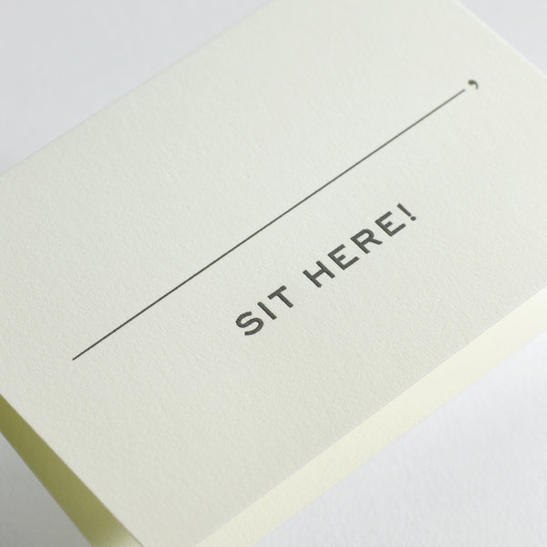 Sit Here Place Card