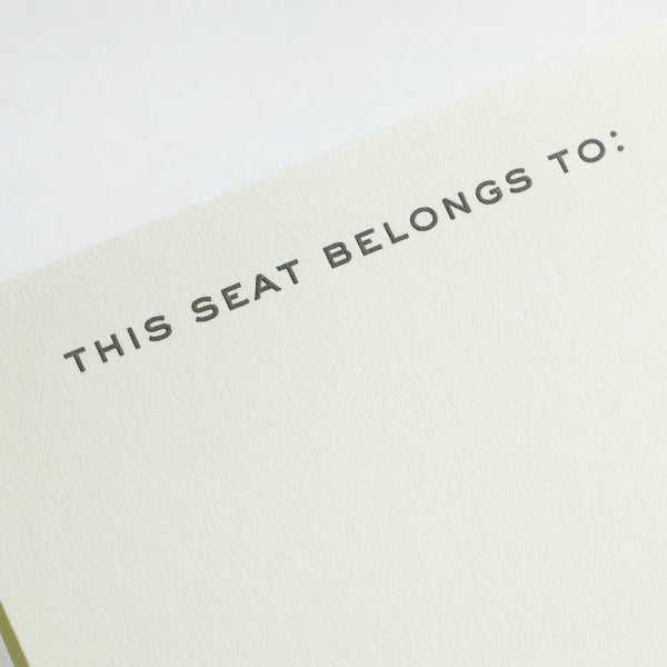 This Seat Belongs Place Card