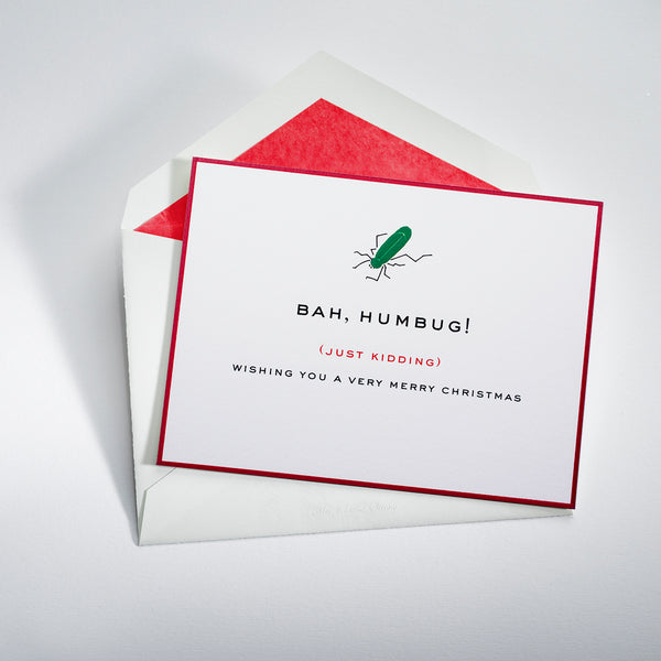 Bah Hum Bug Holiday Notecard