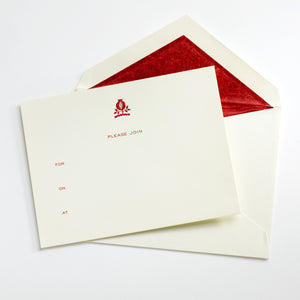 Red Pomegranate Fill-In Invite