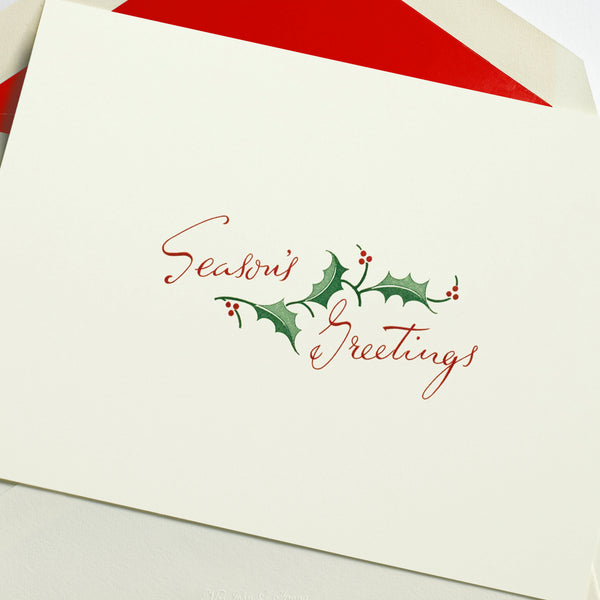 Retro Season's Greetings Holiday Notecard