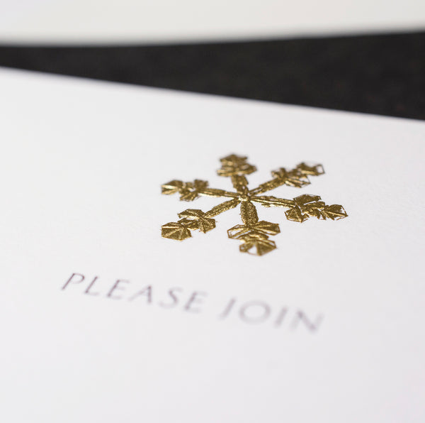 Snowflake Fill-In Invite