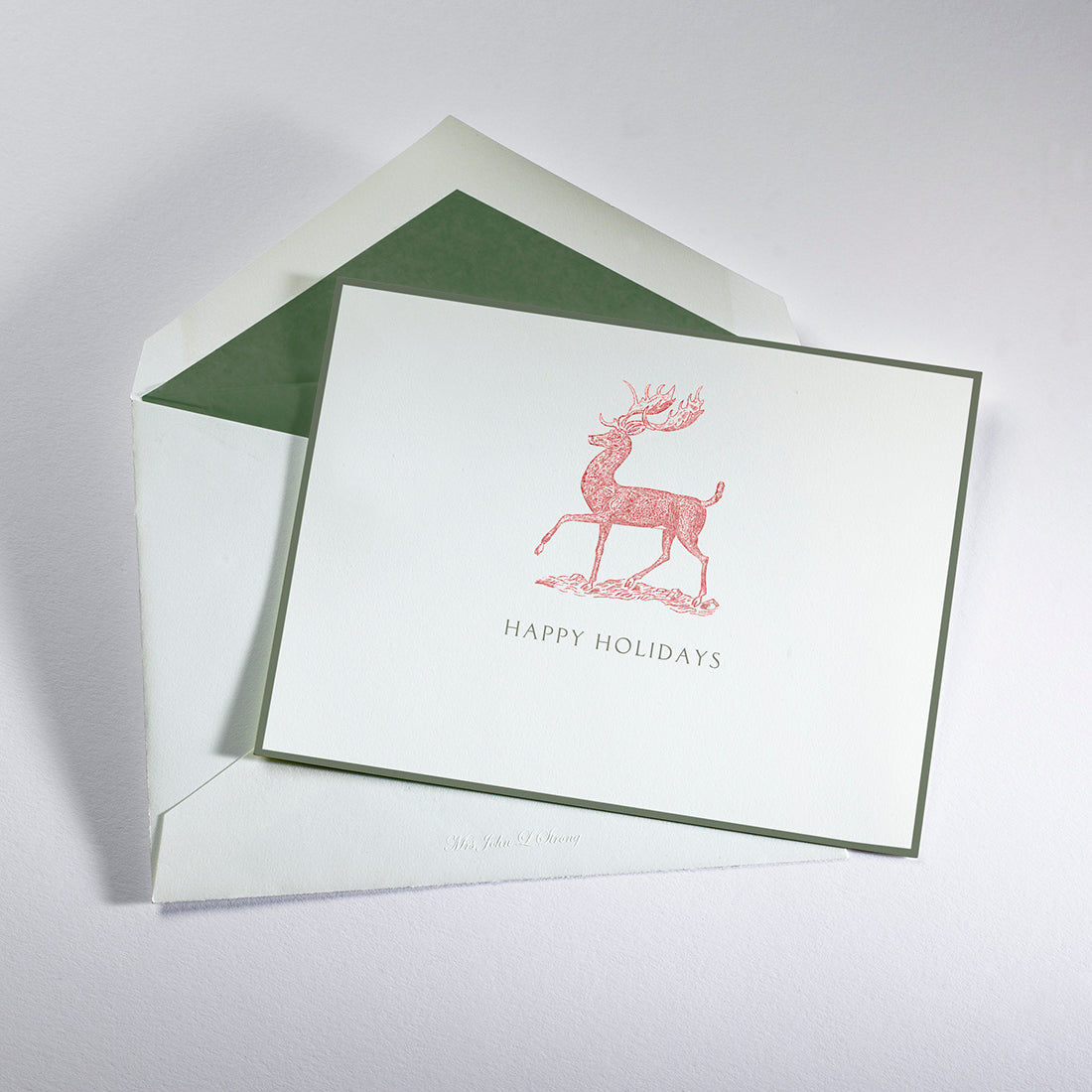 Regal Stag Happy Holidays Card
