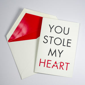 Stole My Heart Individual Card