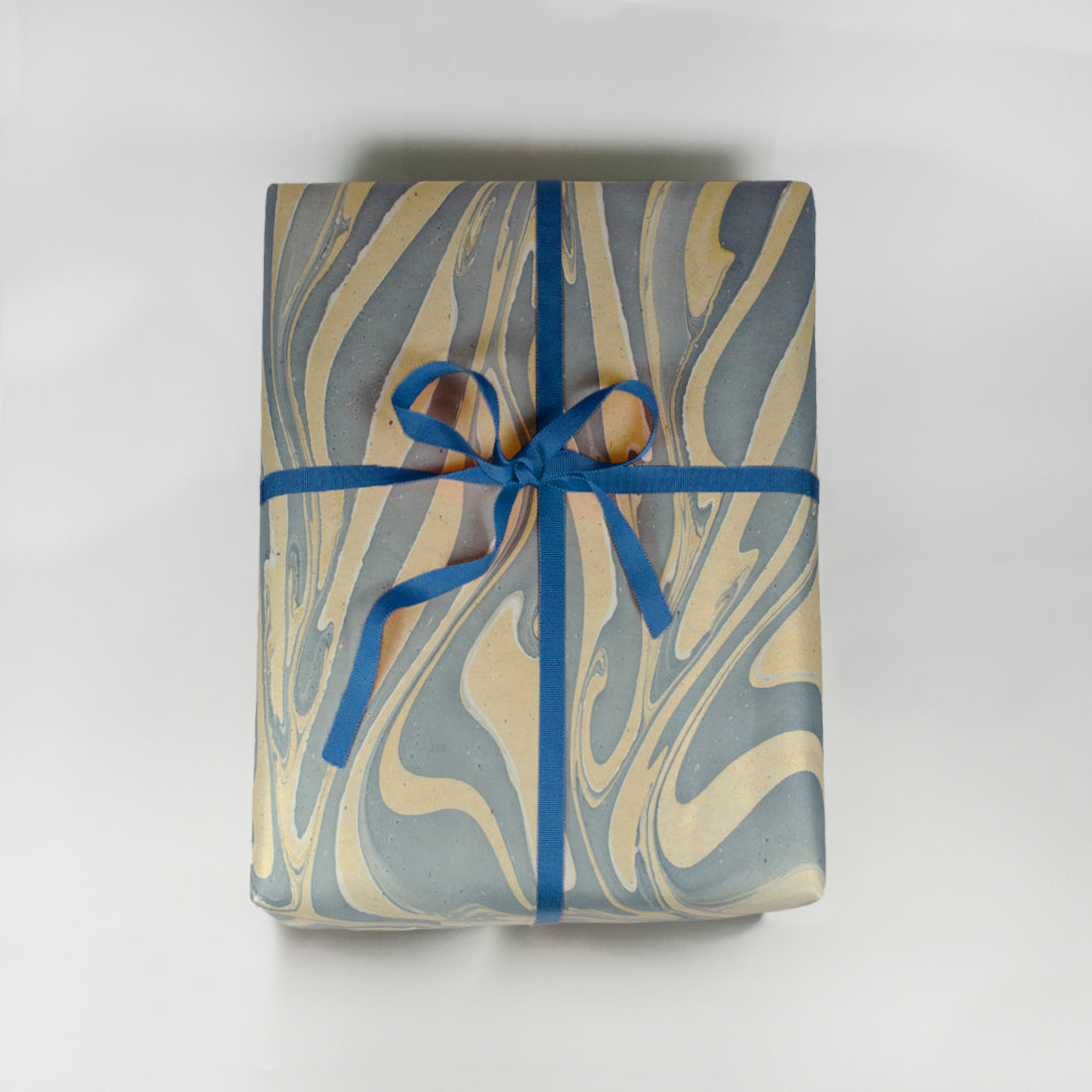 Blue Marbleized Wrapping Sheets