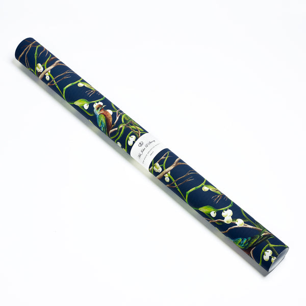 Bird Scene Wrapping Sheets – Navy
