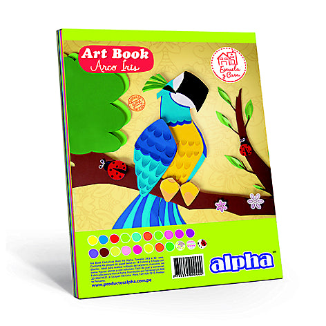 Block Alpha Art Book Arco Iris 15 Colores (45Hjs)