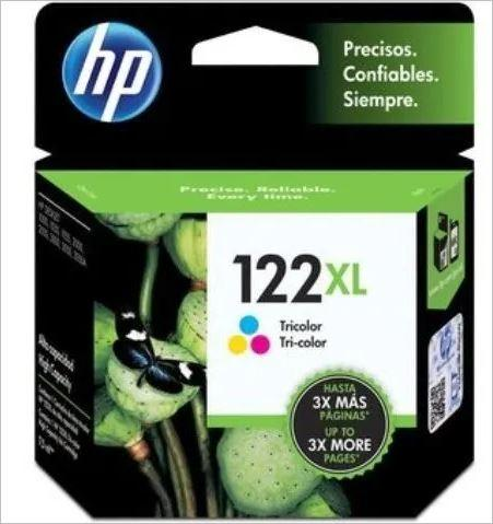 Cartucho de Tinta HP 122XL Tricolor