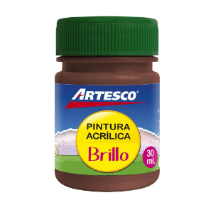 Pintura Artesco Acrilica Brillante 30ml Marron