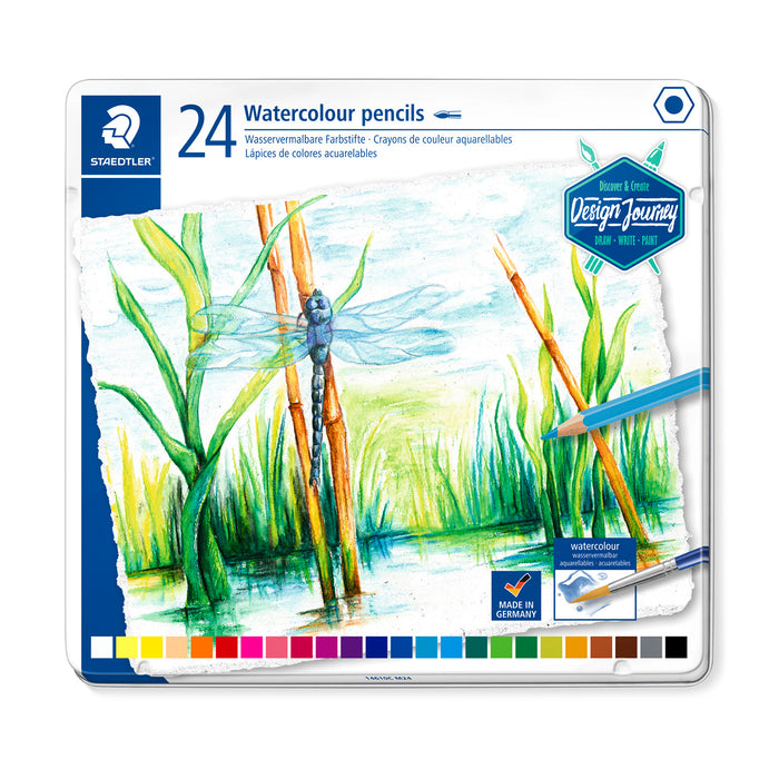 Colores Staedtler Largos Acuarelables Lata X24