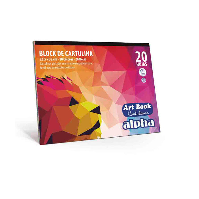 Block Alpha Art Book Cartulina Eco (10 Pliegos)