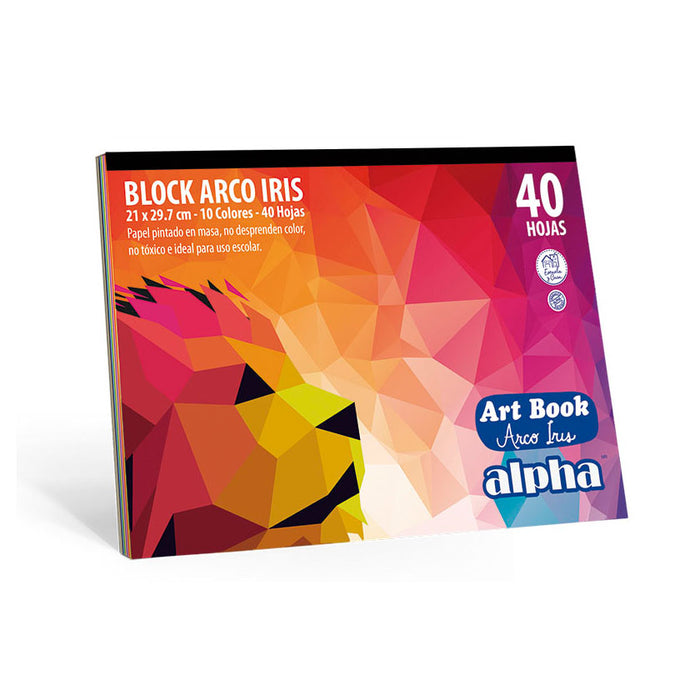 Block Alpha Art Book Arco Iris Eco (40 Pliegos)