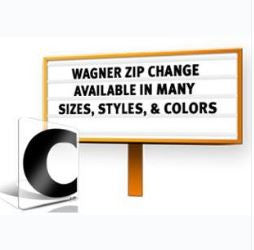 Wagner Zip-Change® Sign Letters