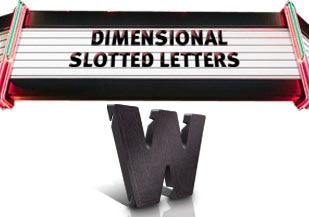 Slotted Sign Letters