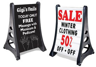 Quick Load Sidewalk Signs