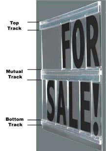 sign track for rigid letters mutual track available in 6 8