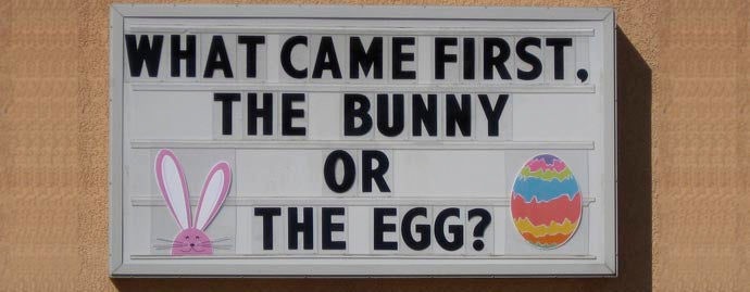 funny easter readerboard message with specialty panels