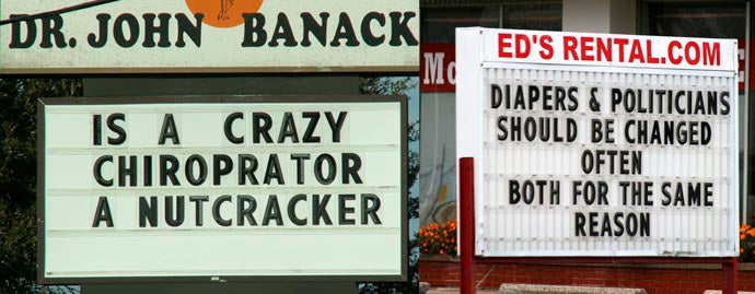 Clever Marquee Sign 4