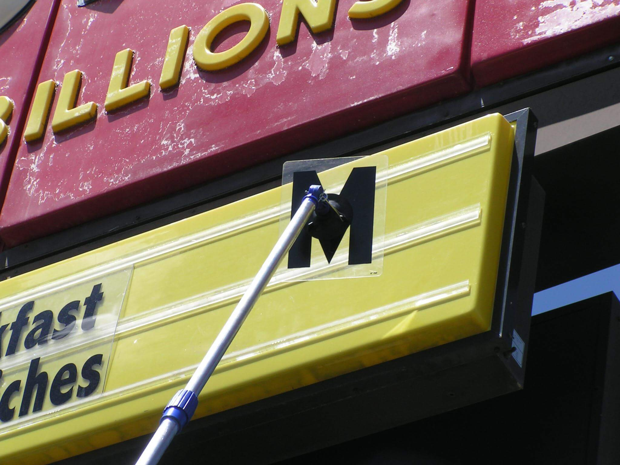 Replacing sign tracking