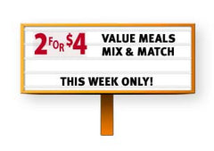 2 for $4 Double Span Over