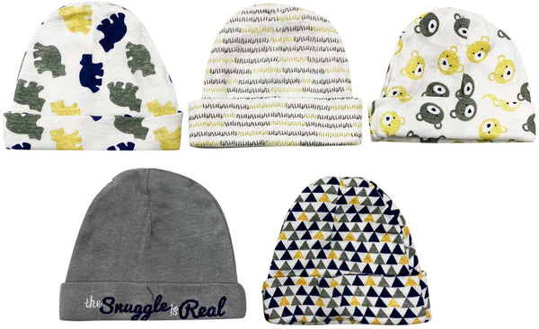 Cribmates Grey Snuggle Hats