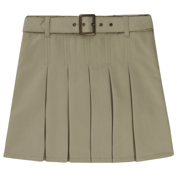 French Toast Belted Pleated Skirt