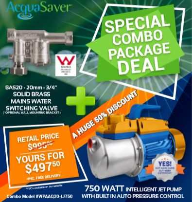 Click here to see our Discounted Water Pump and Acquasaver Package Deal