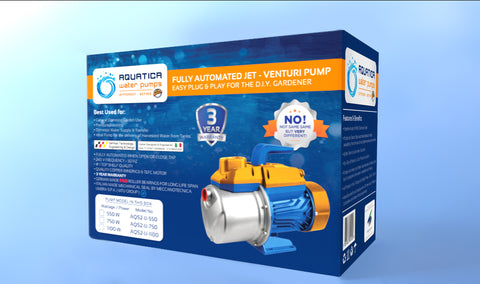 550 Watt Intelligent Jet Venturi - Surface Mount Water Pump with Built-in Auto Pressure Controller and FREE Delivery*