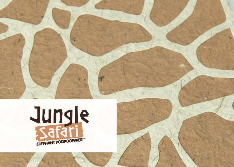 Eco-Friendly, Tree-free, Chemical free, sustainable POOPOOPAPER Jungle Safari Theme