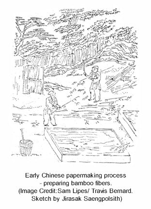 Chinese Papermaking process 105 AD Bamboo