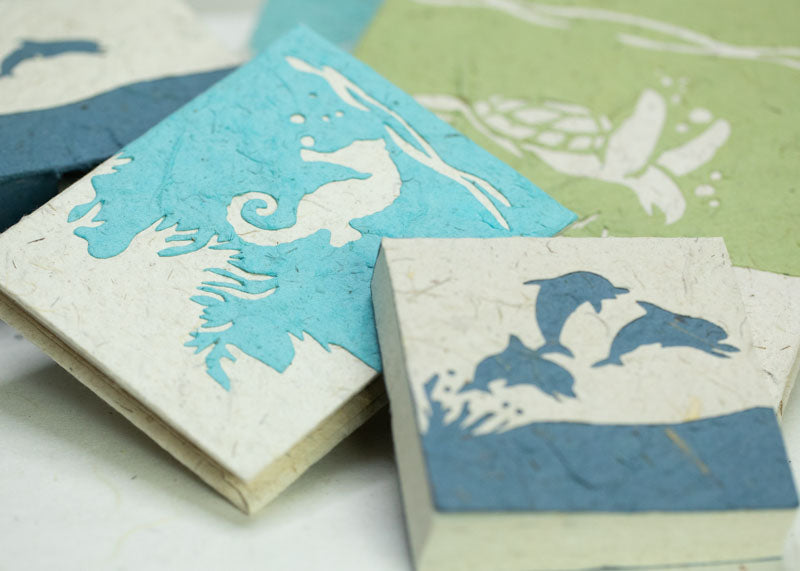 Eco-Friendly, Tree-free, Chemical free, sustainable POOPOOPAPER - Sea-Life Collection