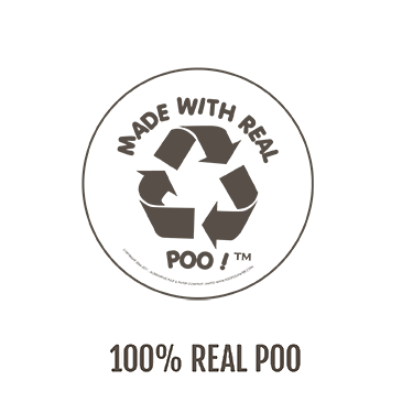POOPOOPAPER is 100% Organic and is made with Real Poo!
