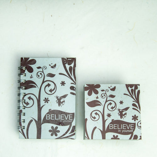 Inspirational POOPOOPAPER - Believe - Journal and Scratch Pad Set
