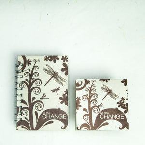 Inspirational POOPOOPAPER - Change - Journal and Scratch Pad Set