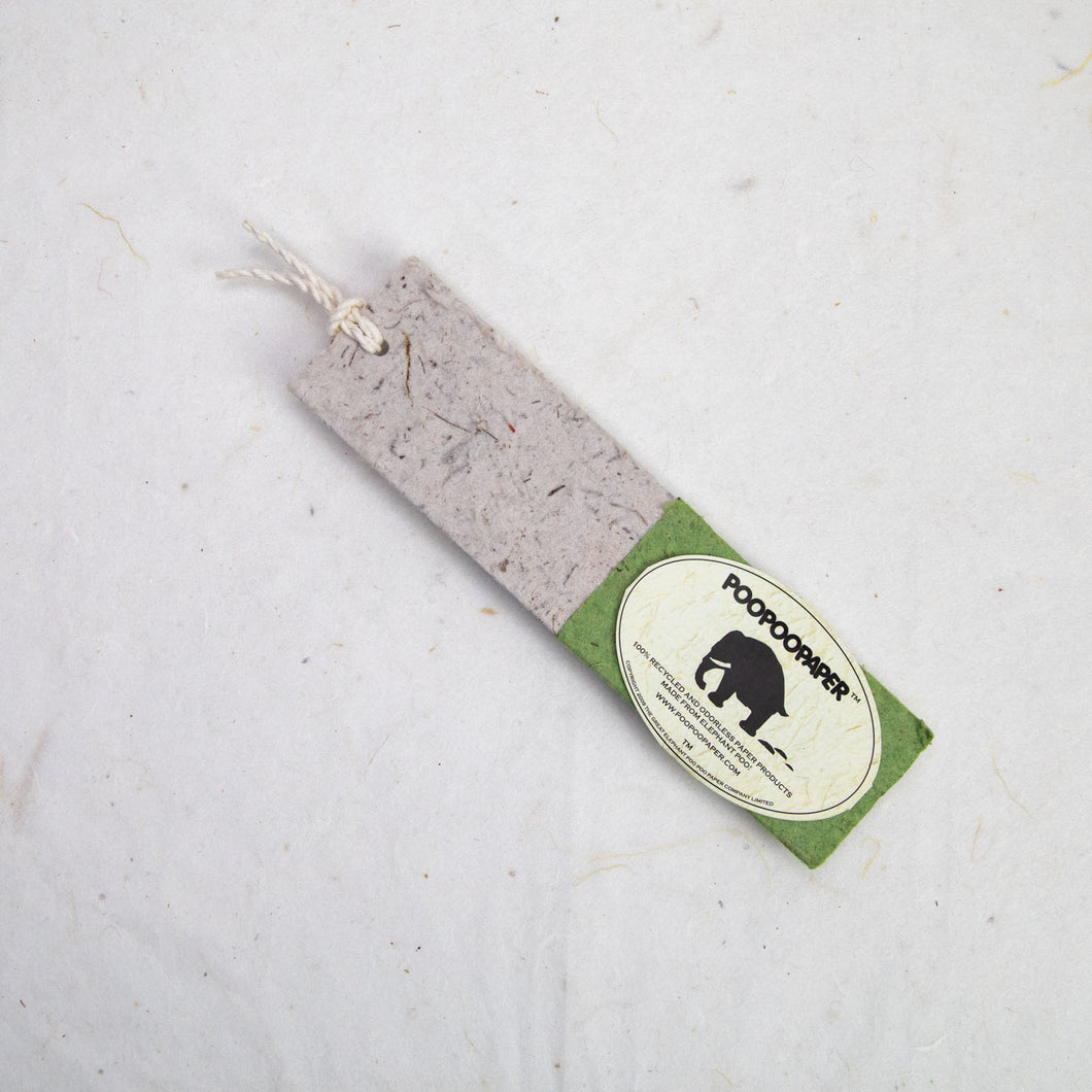 Classic Elephant POOPOOPAPER - Bookmarks - Grass - Set of 10