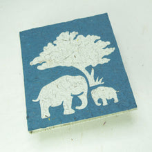Load image into Gallery viewer, Eco-Friendly, Tree-Free, Classic Elephant POOPOOPAPER - Mom & Baby Journal - Blue - Front