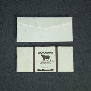 Eco-Friendly 7 Tree-Free - Cow POOPOOPAPER - No.10 Size Envelopes
