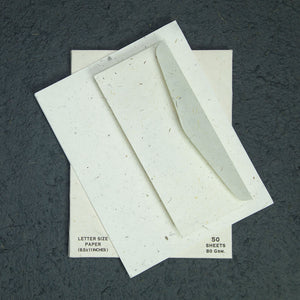 Eco-Friendly 7 Tree-Free - Cow POOPOOPAPER - No.10 Size Envelopes & Letter Size Paper (50 sheets) Set - Open